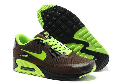 Wmns Nike Air Max 90 Prem Tape Sn Men Brown And Green Running Shoes New Zealand