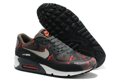 Wmns Nike Air Max 90 Prem Tape Sn Men Red And Black Running Shoes Coupon