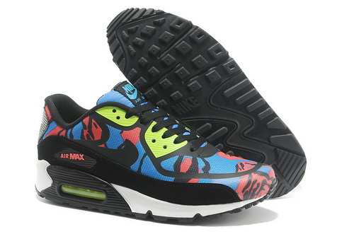 Wmns Nike Air Max 90 Prem Tape Sn Unisex Black And Blue Sports Shoes Sale