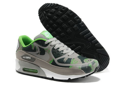 Wmns Nike Air Max 90 Prem Tape Sn Unisex Gray And Green Sports Shoes Uk