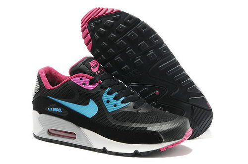 Wmns Nike Air Max 90 Prem Tape Sn Women Black And Blue Running Shoes Portugal