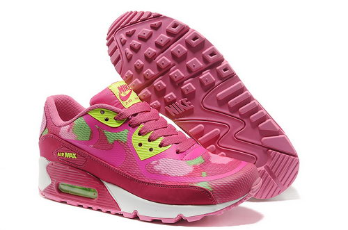 Wmns Nike Air Max 90 Prem Tape Sn Women Pink Green Running Shoes Usa
