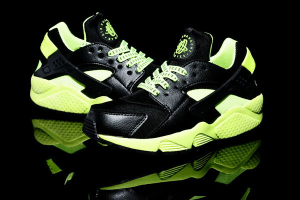 Womens & Mens (unisex) Nike Air Huarache Black Fluorescent Green 36-46 Outlet