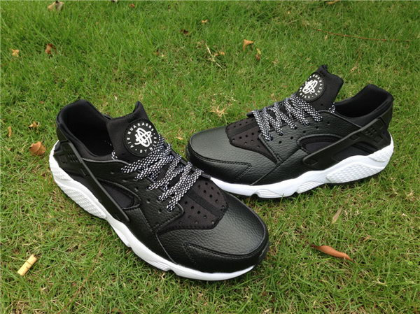 Womens & Mens (unisex) Nike Air Huarache Black White Leather 36-45 Norway