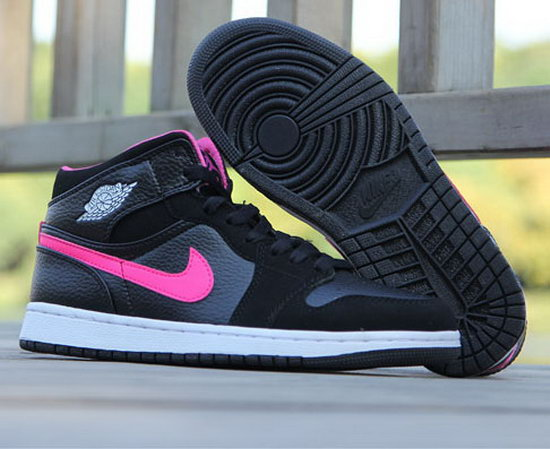 Womens Air Jordan Retro 1 Black Pink On Sale