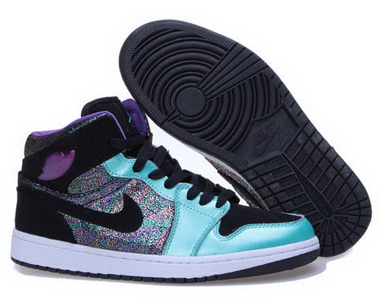 Womens Air Jordan Retro 1 Jade Purple Grape Spain