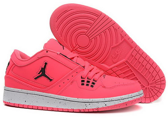 Womens Air Jordan Retro 1 Low Pink Black Inexpensive