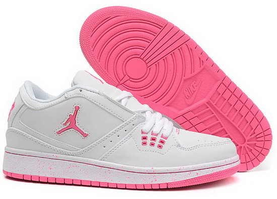 Womens Air Jordan Retro 1 Low White Pink New Zealand