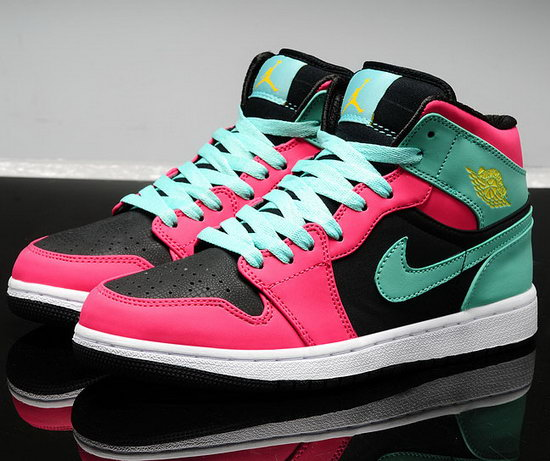 Womens Air Jordan Retro 1 Mint Green Pink Black Factory