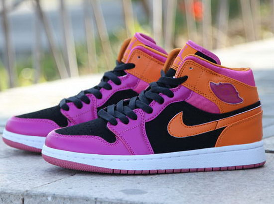 Womens Air Jordan Retro 1 Pink Orange Black Italy
