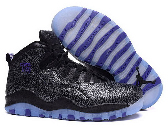 Womens Air Jordan Retro 10 Black Purple China