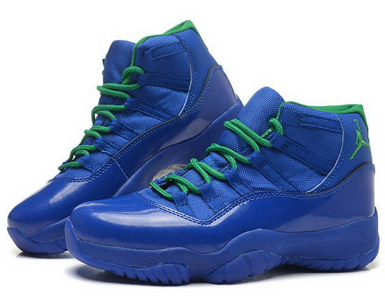 Womens Air Jordan Retro 11 Blue Green Taiwan