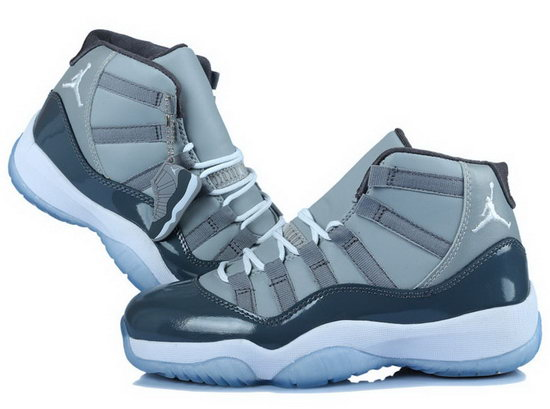 Womens Air Jordan Retro 11 Grey Dark Blue Spain
