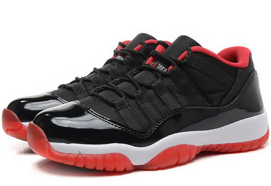 Womens Air Jordan Retro 11 Low Red Black Red Factory