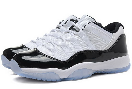Womens Air Jordan Retro 11 Low White Black Low Price