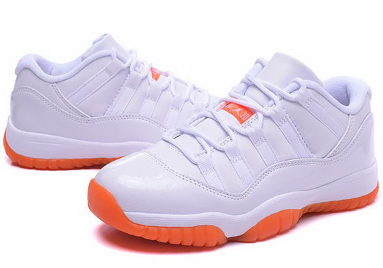 Womens Air Jordan Retro 11 Low White Orange Sweden