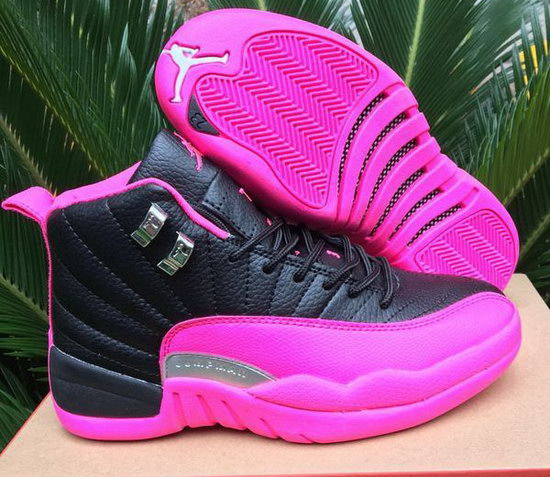 Womens Air Jordan Retro 12 Black Pink Czech