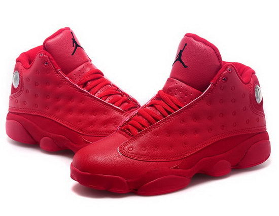 Womens Air Jordan Retro 13 All Red Outlet