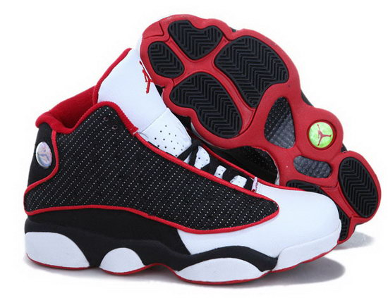 Womens Air Jordan Retro 13 Black White Red China