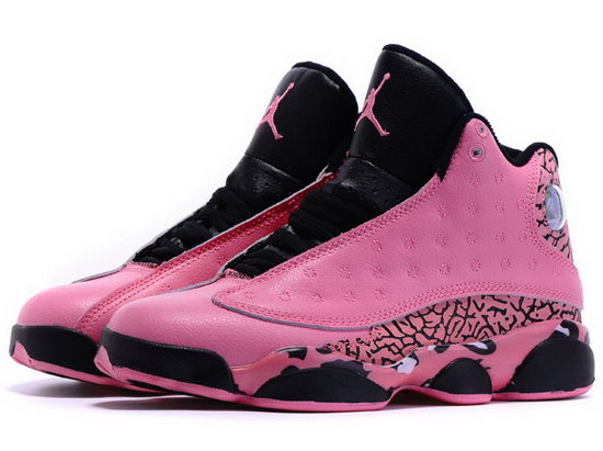 Womens Air Jordan Retro 13 Pink Black France