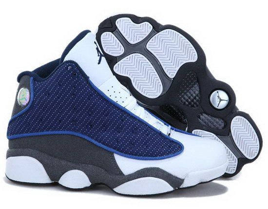 Womens Air Jordan Retro 13 White Blue Grey Online Shop