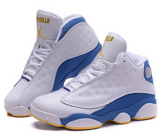 Womens Air Jordan Retro 13 White Blue Spain