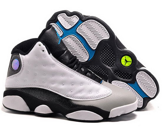 Womens Air Jordan Retro 13 White Grey Black Review
