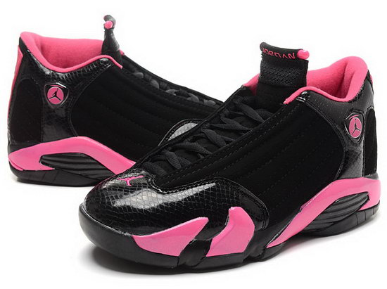 Womens Air Jordan Retro 14 Black Pink Clearance