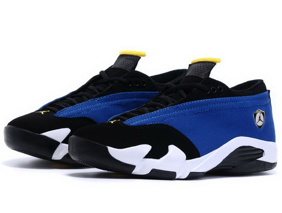 Womens Air Jordan Retro 14 Low Blue Black Netherlands