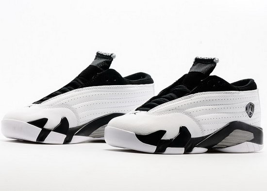 Womens Air Jordan Retro 14 Low White Black Cheap