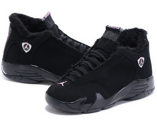 Womens Air Jordan Retro 14 Velvet All Black Discount Code