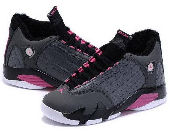 Womens Air Jordan Retro 14 Velvet Grey Pink Denmark