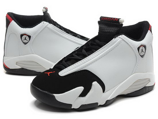Womens Air Jordan Retro 14 White Black
