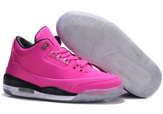 Womens Air Jordan Retro 3 Pink Black Czech