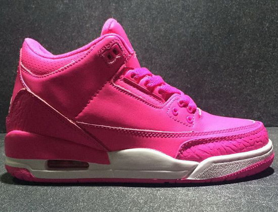 Womens Air Jordan Retro 3 Pink Netherlands