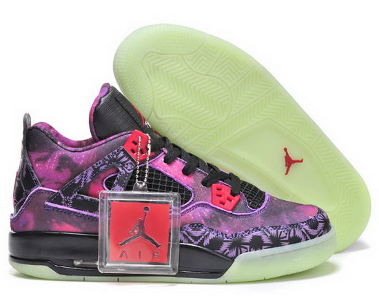 Womens Air Jordan Retro 4 Purple Star Black Uk