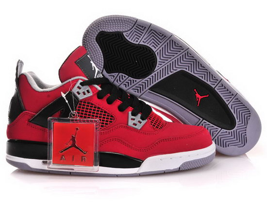 Womens Air Jordan Retro 4 Red Black Poland