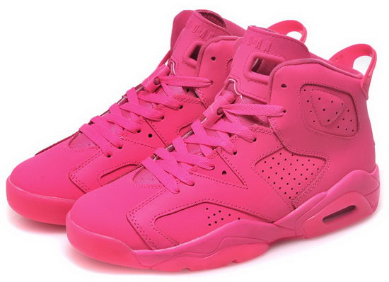 Womens Air Jordan Retro 6 All Pink Norway