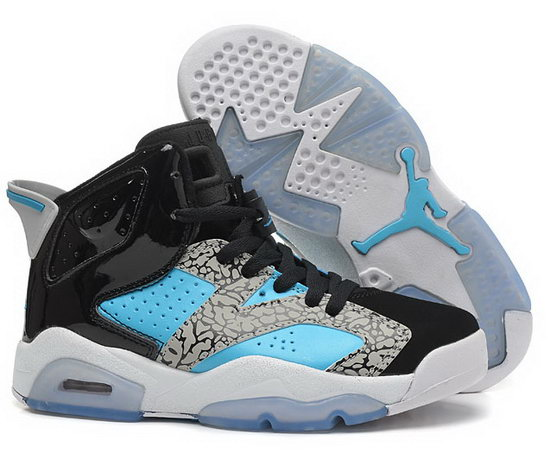 Womens Air Jordan Retro 6 Black Jade Grey Spain