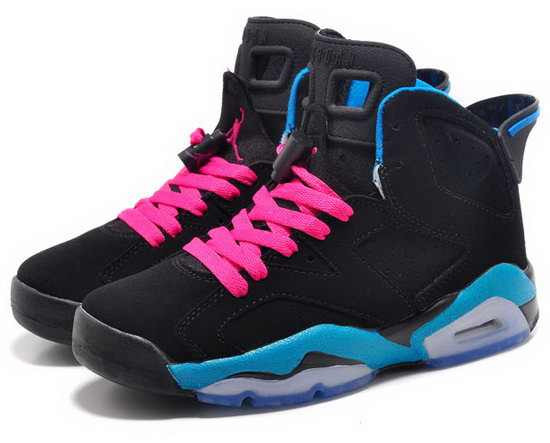 Womens Air Jordan Retro 6 Black Jade Pink Germany