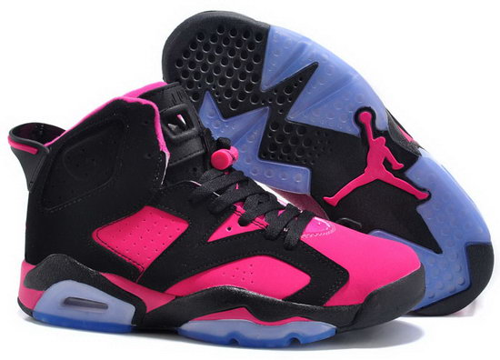 Womens Air Jordan Retro 6 Black Pink New Zealand