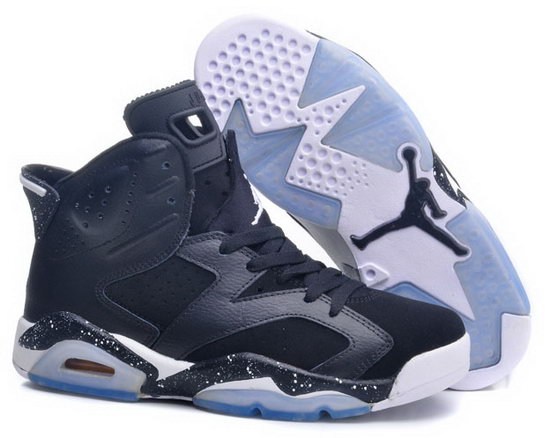 Womens Air Jordan Retro 6 Black White Italy