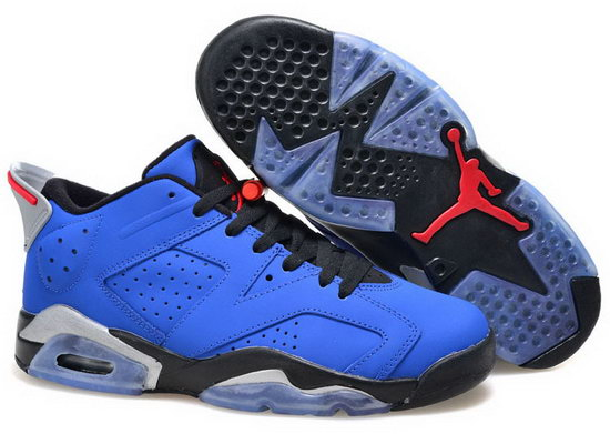 Womens Air Jordan Retro 6 Blue Black Sweden