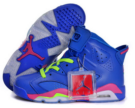 Womens Air Jordan Retro 6 Blue Green Pink Canada