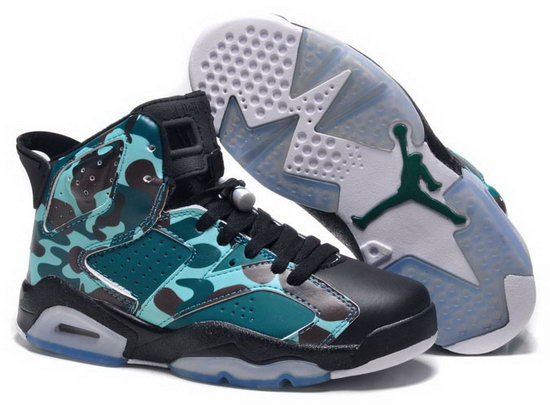 Womens Air Jordan Retro 6 Green Camo Black Uk