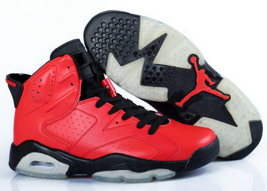 Womens Air Jordan Retro 6 Red Black Wholesale