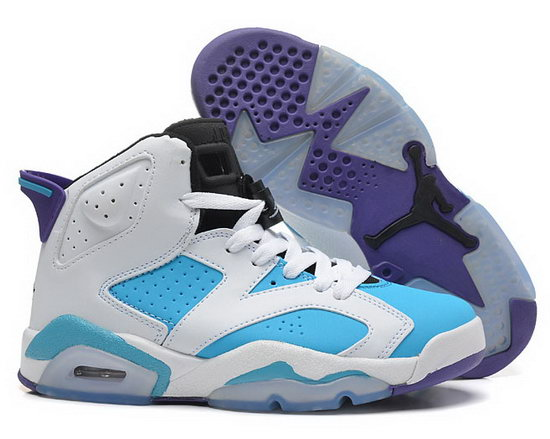 Womens Air Jordan Retro 6 White Jade Purple Japan