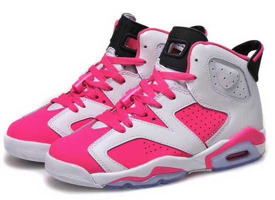 Womens Air Jordan Retro 6 White Pink Black Promo Code