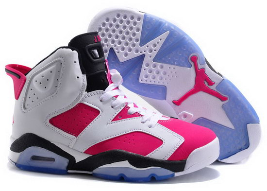Womens Air Jordan Retro 6 White Pink Clearance