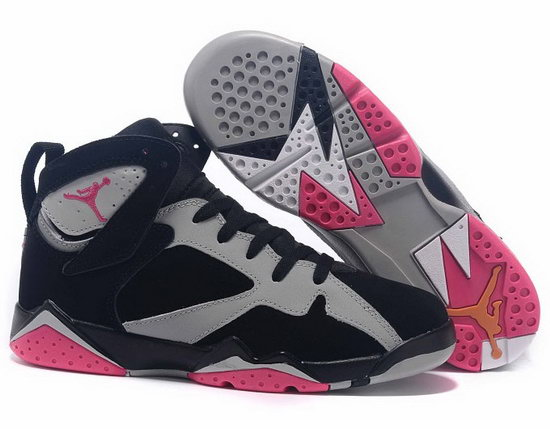Womens Air Jordan Retro 7 Black Grey Pink Uk
